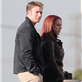 Chris Evans and Scarlett Johansson on the set of Captain America: Winter Soldier  148370