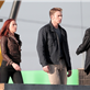Chris Evans and Scarlett Johansson on the set of Captain America: Winter Soldier  148371