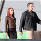 Chris Evans and Scarlett Johansson on the set of Captain America: Winter Soldier  148374