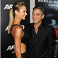George Clooney and Stacy Kiebler at the Argo premiere 128522