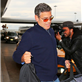 George Clooney and Stacy Keibler arrive in NYC 128724