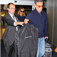 George Clooney and Stacy Keibler arrive in NYC 128728