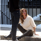 Gisele Bundchen on a H&M Shoot in Chelsea 148626