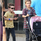 Victoria Beckham with her kids at Universal City Walk  131063