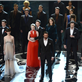Hugh Jackman performs at the 85 Annual Academy Awards with Les Miserables cast members 141281