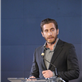Jake Gyllenhaal speaks at the Headstrong Project's first ever Words of War event at the IAC Building 150922