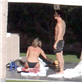 Jennifer Aniston in a bikini and Justin Theroux in jean shorts in Cabo for Christmas 135332