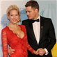 Michael Buble and his wife Luisana Lopilato at the 2013 Juno Awards at Brandt Centre in Regina, SK 147264