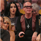 Katy Perry and her dad at the Lakers vs The Dallas Mavericks opening game of the season at the Staples Center in Los Angeles, CA 130741