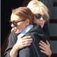Lindsay Lohan hugs her mother after their big blowout last night 128964