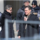 George Clooney and Matt Damon on the set of The Monuments Men in Berlin  144827