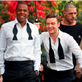 Jay-Z and Justin Timberlake on the set of the music video for Suit and Tie 138368