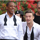 Jay-Z and Justin Timberlake on the set of the music video for Suit and Tie 138371