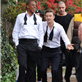 Jay-Z and Justin Timberlake on the set of the music video for Suit and Tie 138372
