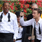 Jay-Z and Justin Timberlake on the set of the music video for Suit and Tie 138386