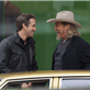 Ryan Reynolds and Jeff Bridges filming scenes for the upcoming movie 'R.I.P.D' in downtown Los Angeles 132993