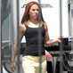 Scarlett Johansson on the set of 'Captain America: The Winter Soldier' in Los Angeles 147624