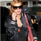 Lindsay Lohan arrives at LAX 145157